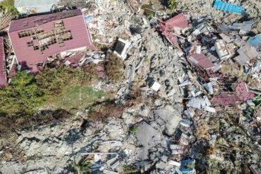 vue du ciel après un tsunami